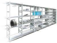 Shelving that has been made using rollforming