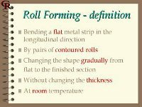 Page from a roll forming training manual showing roll forming definition